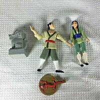 1998 Mcdonalds Mulan set lot of 3 Shang-Li Kan Mushu Disney Vintage Cannon EUC