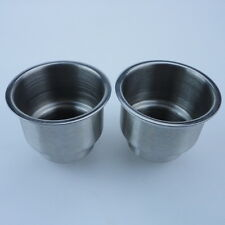 2PCS Convenient Stainless Steel Cup Drink Holder Marine Boat RV New Arrival