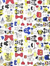 100% Cotton Fabric Springs Creative Disney Mickey Mouse Minnie & Friends Pluto