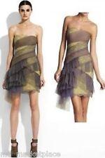 NWOT BCBG Max Azria Runway Strapless Tulle Chiffon Silk Dress Cinder 0 XXS $498
