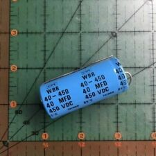 Cornell Dubilier Axial Electrolytic Capacitor 40uF 450v WBR40-450 Industrial 2pc