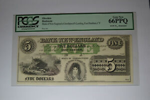 East Haddam, CT- Bank of New England at Goodspeed's Landing $5. PCGS Gem New 66