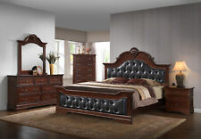 Kings Brand Furniture Antique Brown Queen Size Upholstered Bed Bedroom Set