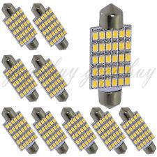 "10 x 30-SMD Warm White LED Bulbs for Car Interior Dome Light 1.72"" Festoon 212-2"