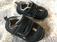 Pediped 21 US 5.5 Snickers Baby Boy Shoes Blue Navy Leather Arch Support Tennis