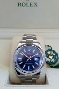 Rolex Datejust II 41mm Blue Dial Box and Papers 2015 Model
