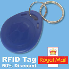 Blue 125Khz RFID NFC Proximity ID Card Token Tags Key Ring fobs Keyfobs Read