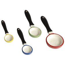Skillet Measuring Spoons, New, Set Of 4, Nested, Ceramic, Dishwasher Safe