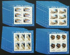 20 x Rumänien 1998 Mi. 5325-28 Kleinbogen ** MNH Nachtaktive Vögel Birds /23
