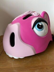 Crazysafety Pink Horse Bike Helmet