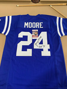 LENNY MOORE SIGNED AUTOGRAPHED JERSEY BALTIMORE COLTS WITH COA JSA