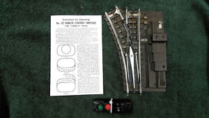 LIONEL SUPER O 112 LEFT HAND SWITCH WITH ALL RAIL PINS & BUS BAR CLEANED