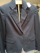 NWT Parallel Women's Black One Button Lined Blazer Size 10 $88