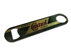 CASTROL OIL DIGITALLY PRINTED STAINLESS STEEL BOTTLE OPENER. MAN CAVE,BEER