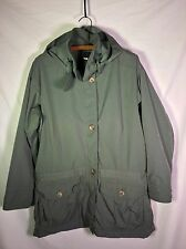 VTG Patagonia Parka Fleece Lined Women's M Cargo Jacket Military Green 90's!