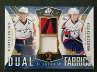 2009-10 SP GAME USED DUAL FABRICS ALEX OVECHKIN NICKLAS BACKSTROM #ED 23/25