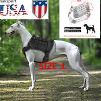 Tactical Training Dog Harness Vest w/Quick Release Buckle for Police K9 Dogs L