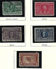 CHERRY! U.S. 1904 LOUISIANA PURCHASE ISSUES 1c to 10c Scott #323-327 WYSIWYG Lot
