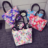 Fashional Floral Women Handbag Canvas Casual Tote Bag  Shopping Bag Lunch lf