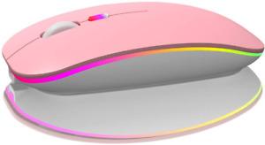 mouse para tablet inalambrico para Android ipad con luces recargable laptop PC