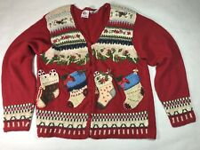 Vintage Nutcracker Women's Medium Cardigan/ Ugly Christmas Sweater