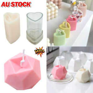 Heart Shape Aromatherapy Candle Silicone Mold Candle Making Wax Mold Soap Mold