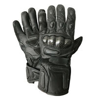 Original Leather Motorcycle Street Racing Biker Reflective Gloves
