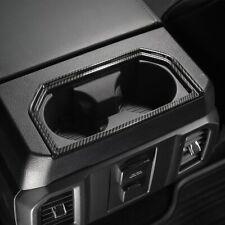 17-21 Ford F250 F350 Carbon Fiber Molded Rear Cup Holder Bezel Trim Cover