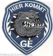 """Gelsenkirchen Aufnäher """"HIER KOMMT"""" GE Kutte Fan Kurve Block + NEU + 7 x 8cm"""