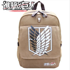 More details for anime attack on titan school book bag canvas backpack rucksack cosplay prop