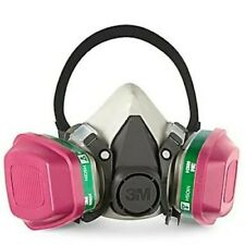 3M 6100 & 2 EA 60924 Ammonia/Methylamin/P1OO Cartridge HalfFace Respirator SMALL