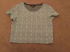 Girls Mint Green Patterned Crop Top, New Look, Size 10/11yrs. VGC.