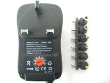 2500MA/2.5A 3/4.5/5/6/7.5/9/12 VOLT AC/DC POWER ADAPTOR/SUPPLY/PSU/CHARGER WA