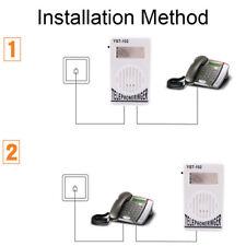 Extra-Loud Telephone Phone Bell Ringer Strobe Light Flasher Sound Amplifier H OI