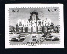 ITALIA 1 FRANCOBOLLO CAROSELLO 2017 usato su frammento (BI5535)