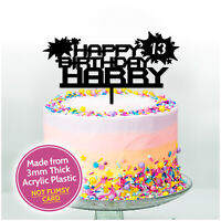 Boys Birthday Cake Topper Pick Acrylic PERSONALISED Birthday Topper ANY NAME