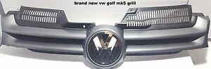 VW GOLF MK5 2004-2008 FRONT GRILLE MAIN CENTRE GREY  NEW PAINT CODE LA7T