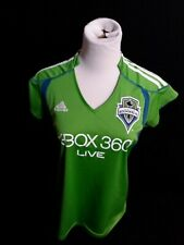Adidas Green Jersey Shirt Seattle Sounders MLS FC Size Ladies Womens M