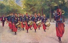 POSTCARD  MILITARY  WWI   Swiss Band  Les  Zouzous