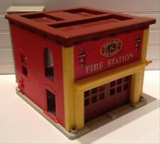1970 Vintage Fisher Price Play Family Little People Fire Station Building