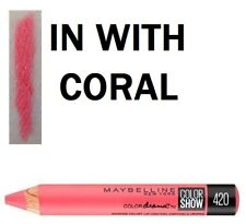 Maybelline Color Drama Intense Velvet Lip Pencil 420 in With Coral