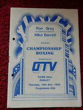 Boxe programme-Tony Willis/Paul chance 1985