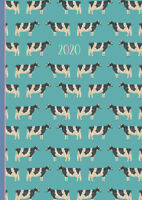 Cows - 2020 Premium Animal Diary Planner A5 Padded Cover Christmas New Year Gift