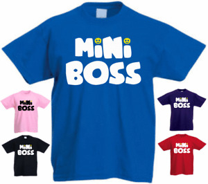 Mini Boss New Funny Kids Present Gift T-shirt