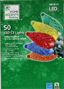 50 COUNT LED MULTI COLOR C-3 CHRISTMAS LIGHTS NIB