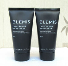 Elemis For Men Deep Cleanse Facial Wash 2 x 50ml  New