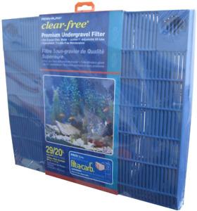 Premium Under Gravel Filter System For 29 Gallon Fish Blue NEW