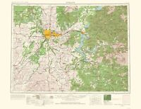 Topo Map - Spokane Washington Quad - USGS 1965 - 23.00 x 30.02