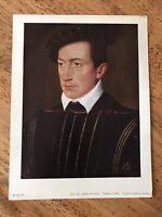 Francois Clouet - Guy XVII, Count of Laval - 12.5 X 9.5 Vintage Print