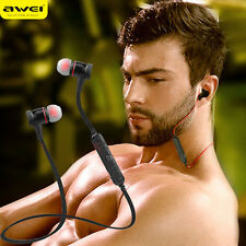 AWEI Wireless Bluetooth SPORT Stereo Headphone Headset Earbud For Apple iPhone X